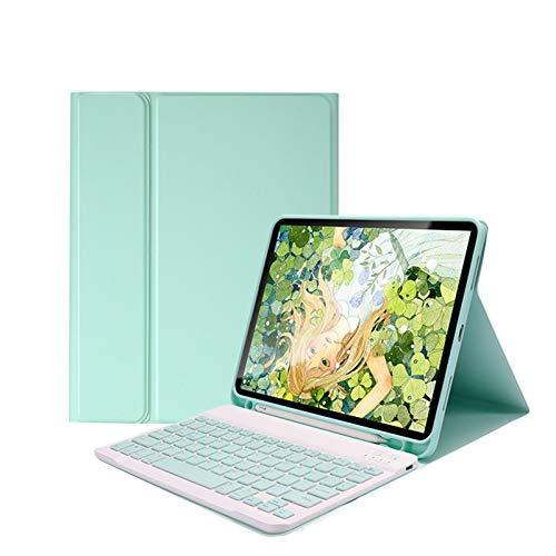 NVFED Funda Bluetooth para iPad 2020 de 10,2 pulgadas, funda inteligente de piel con función atril desmontable (color azul, tamaño: iPad 8 2020 10.2)