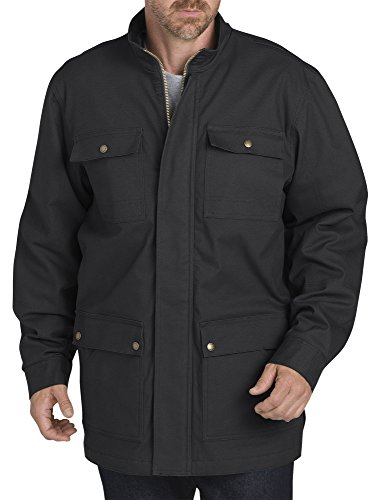 Dickies Men's Sanded Duck Flex Mobility Coat, Black, L