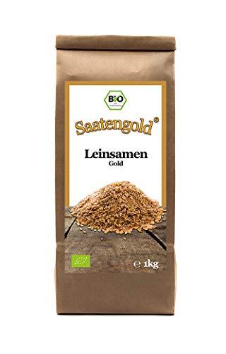Saatengold | Naturstoffe / Natürlich / Rein | Vegan & glutenfrei (Bio-Leinsamen gold 1kg)