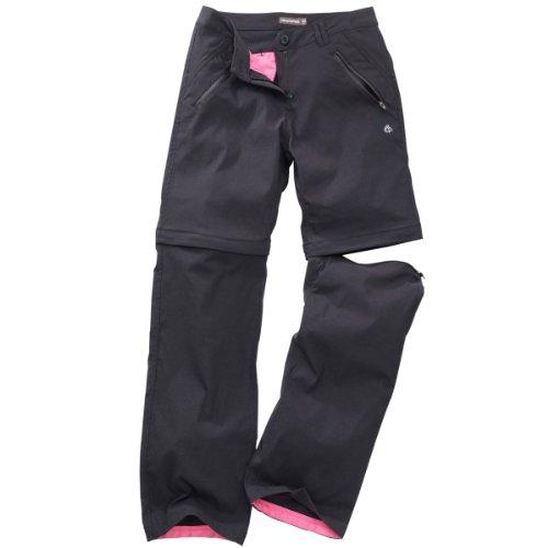 Craghoppers Kiwi Pro Pantalon Stretch Convertible FR:42 Noir - Noir