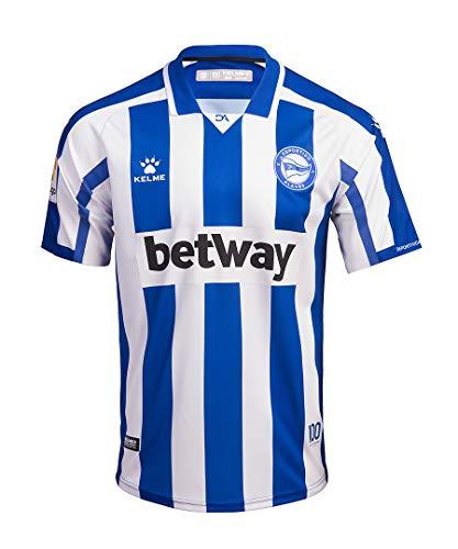 DEPORTIVO ALAVÉS Equipación 1ª Camiseta De Juego 20/21, Unisex Adulto, Azul/Blanco, XL