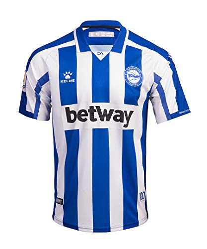 DEPORTIVO ALAVÉS Equipación 1ª Camiseta De Juego 20/21, Unisex Adulto, Azul/Blanco, L