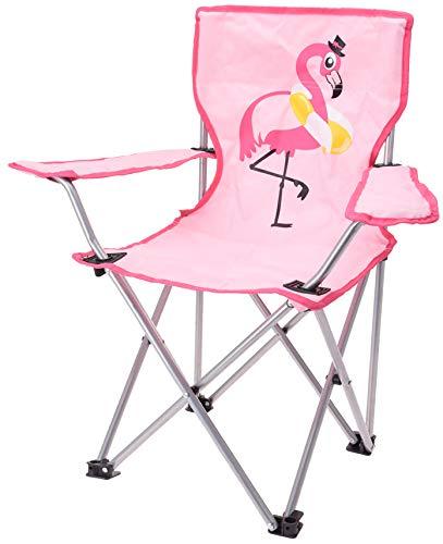 matrasa Campingstuhl für Kinder - Klappstuhl Strandstuhl Gartenstuhl Kinderstuhl - Flamingo (Pink)