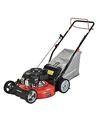 PowerSmart Lawn Mower, 21-inch & 170CC, Gas Powered Self-Propelled Lawn Mower with 4-Stroke Engine, 3-in-1 Gas Mower in Color Red/Black, 5 Adjustable Heights (1.2''-3.0'' ), DB2321SR