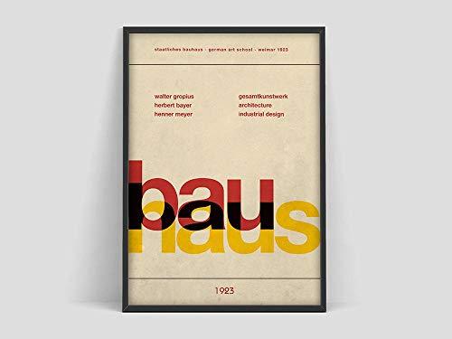原文 Póster de la Exposición de la Bauhaus, Weimar 1923, Impresión de la Exposición de la Bauhaus, Impresión de la BauhausWillster, Cuadro en lienzo sin marco R 70x100cm