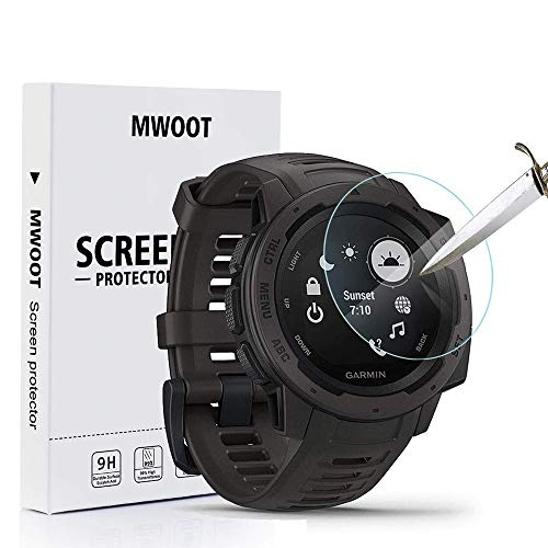 MWOOT Pack de 4 Compatible con Garmin Instinct Protector Pan