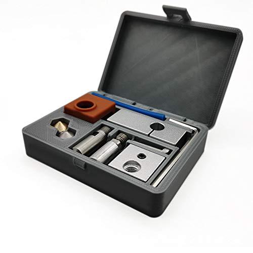 ACGGMR ender 3 pro build plate All Metal MK10 Heating Block Nozzle 3D Printer Hot End Kit for Wanhao i3/MakeBot/Creator Pro Part 1.75mm Filament(J) ender pei