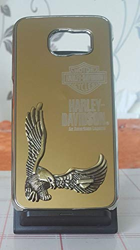 Adago - Cover posteriore per Samsung S6 Harley-Davidson Motor American Legend 3D Eagle (oro)
