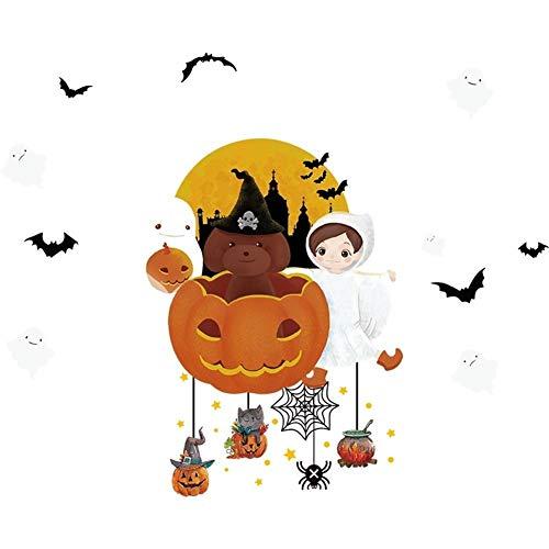 LXJ Halloween, Halloween Party Props, Decoraties, Halloween Decoraties Shop Raamglas Deur Stickers Verwijderbare Layout Kleuterschool Zelfklevende Muurstickers