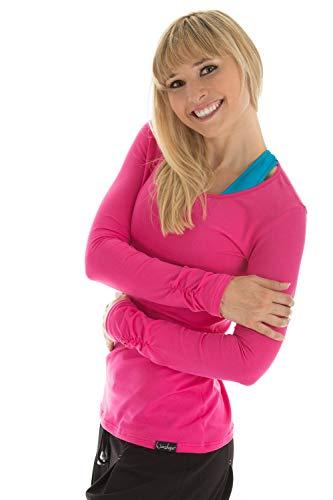 Winshape WS1 Tee-Shirt à Manches Longues pour Femme Coupe étroite pour Loisirs et Sport XL Rose - Rose Bonbon