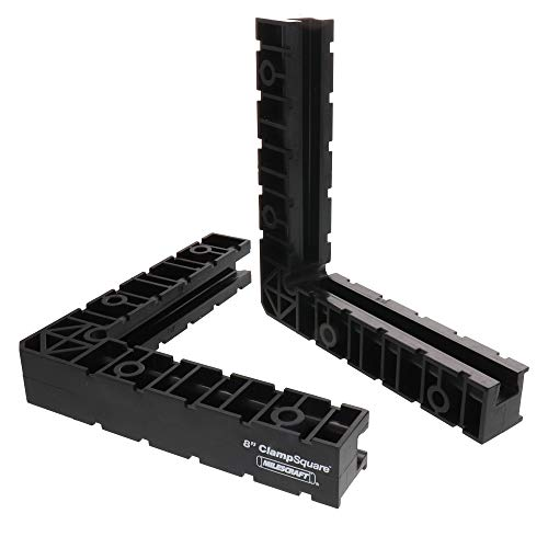 Milescraft 4011 8' Clampsquares - 90 Degree Corner Clamp, Positioning/Assembly Squares For Pictures Frames, Boxes, Etc