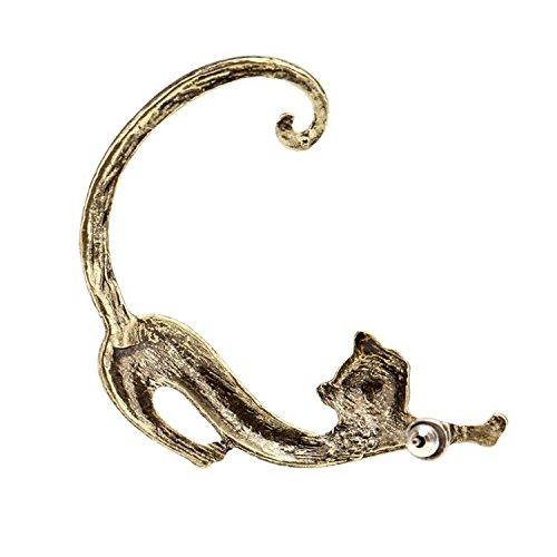 Gótico punk tentación gato mordida oreja manguito wrap pendientes moda voluptuosa gatito oreja cuff pendientes joyería