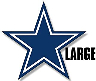 Magnet 8x8 inch Large Blue Star Sticker - Dallas Cowboys Colors Logo Big dak Fan i Love Magnetic Magnet Vinyl Sticker