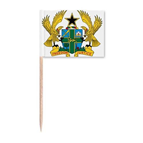 Ghana Afrika Nationalemblem Zahnstocher Flaggen Marker Topper Party Dekoration