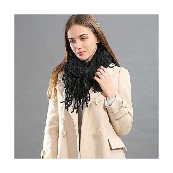 StylesILove Women Cozy Knit Tassel Infinity Loop Scarf – 7 Colors