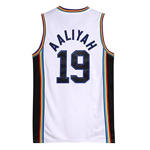 GAOJR Camiseta De Baloncesto para Hombre, Aaliyah 19 Bricklayers, MTV Rock N Jock | Acogedor Y Transpirable Secado Rápido L