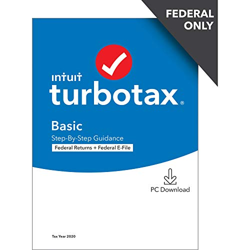 TurboTax Basic 2020 Desktop Tax Software, Federal Returns Only + Federal E-file [PC Download]