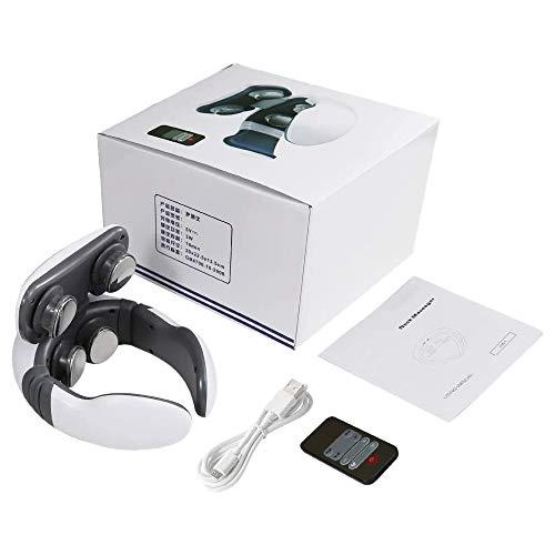 Vaorwne Smart 4D Magnet Puls Beheiztes Elektrisches Nacken Massage Ger?T Fern Infrarot Heizung Schmerzlinderung Geb?Rmutter Hals Massage