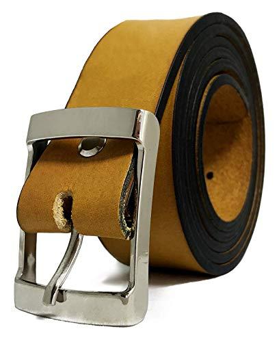 Cinturón de Hombre y Mujer - Piel legítima - 35mm de ancho - Cuero - 3,5cm - Jeans, Trajes,...