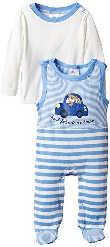 """Twins Baby - Jungen Strampler """"Auto"""" im Set mit Langarmshirt, Gr. 56, Blau (little boy blue 164132)"""