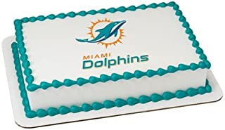 Miami Dolphins Edible Frosting Sheet Cake Topper - Licensed - 1/4 Sheet