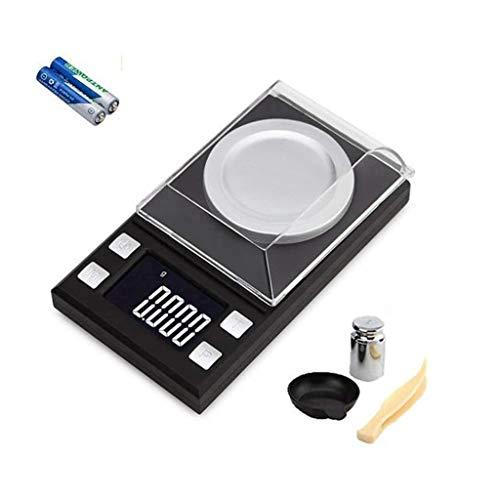 XYFW Báscula Digital Miligramos De Bolsillo Polvo Laboratorio Joyería Alta Precisión Mini Quilates En Polvo Digital Milligram Scale Báscula Joyería Multifunción con Pantalla LCD,100g0.001g