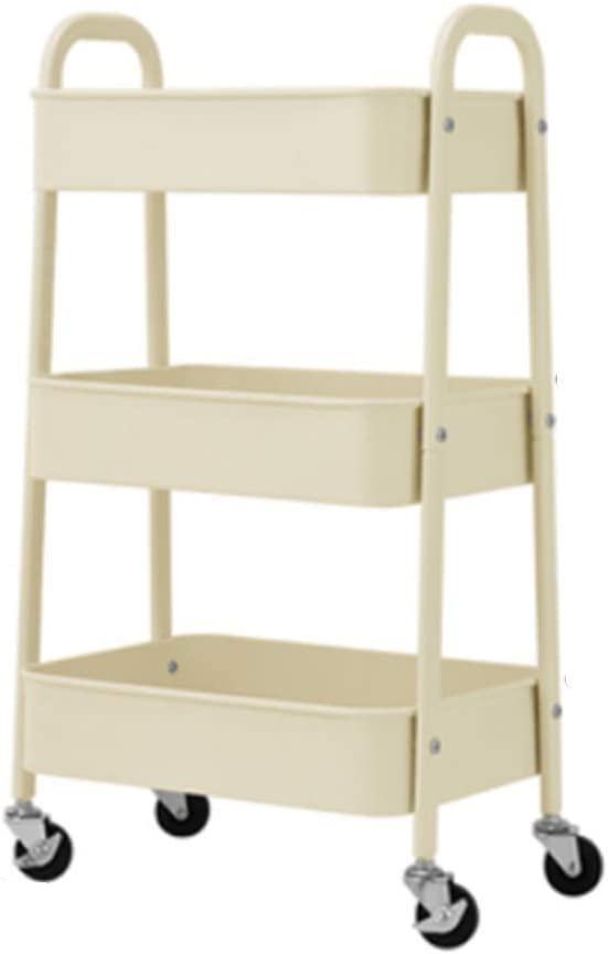 HUO Super beauty product restock quality top 3-Tier Cheap bargain Rolling Storage Trolley Bathroom - Kitchen Floor Rack