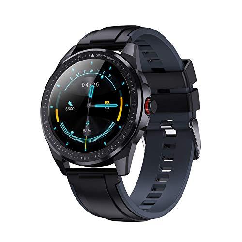 Vigorun Smartwatch, Pantalla Táctil 1.3' Reloj Inteligente Hombres Mujeres, Impermeable IP68 Fitness 10 Modos Deportivos, Oxígeno Sangre Pulso Monitor de Sueño Podómetro para Android Samsung, Gris