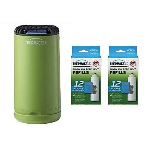 Thermacell Outdoor Portable Insect Repeller Bundle with 12-Hour Mosquito Repellent Refill (2 Pack)