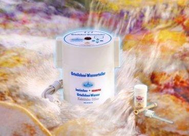Urteilchen Wasserteiler zur Herstellung von basischem Wasser und Silberwasser