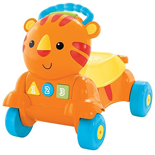 Kanqingqing Trotteur 2-in-1 bébé Pousser Walker Early Education Lumières Puzzle Toy Car Tiger Step Aide for Les garçons et Les Filles (Jaune) pour Enfants Enfants Garçons et Filles