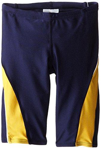 Speedo Big Boys  Taper Splice Youth Jammer Swimsuit, Navy Gold, 26