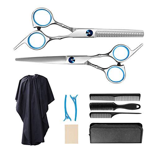 WATSABRO Haarschere Set,Das professionelle Anti-Rost-Haarschneideset ist für Heim/Friseursalons geeignet und kann für Männer/Frauen/Haustiere verwendet werden