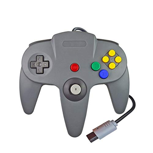 YYCH PC-Spiele Wired Gamepad for Gamecube Joystick Spiel Zubehör for Nintendo N6 4PC Computer-Steuer Mobiler Spielcontroller (Color : N64 Red)
