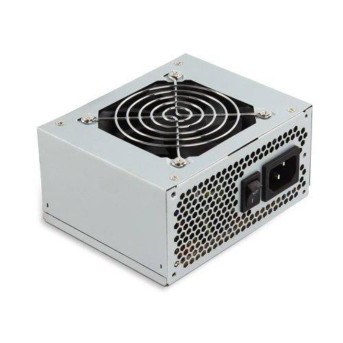 TooQ TQEP-500S-SFX- Fuente de alimentación Eco Power II, PFC pasivo, Ventilador silencioso de 120mm con Control automatico de Velocidad, (500W, ATX 12V V1.3) Color Plata, Cable NO Incluido