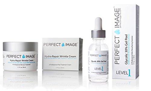 Glycolic 30% Peel + Hydra Repair Wrinkle Cream Combo - 2 combo Pack