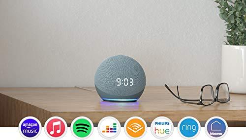 Echo Dot (4ª generazione) - Altoparlante intelligente con orologio e Alexa - Ceruleo
