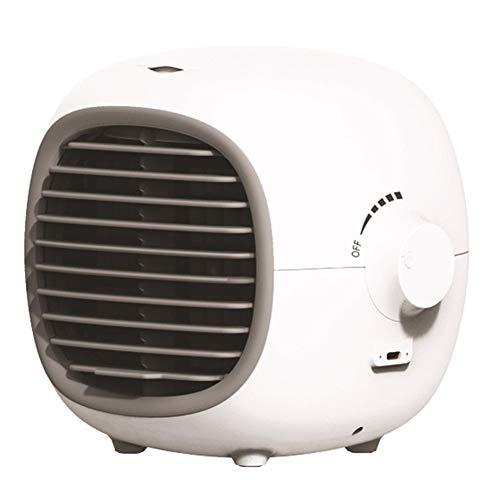 AZHLUF Mini klimaanlage 3-Gang-Mobile Tragbare Luftkühler, klimagerät klein, Desktop-Lüfter, Luftreiniger, USB-Aufladung und leise, for Büro Camping Hause Schlafzimmer (Color : White)
