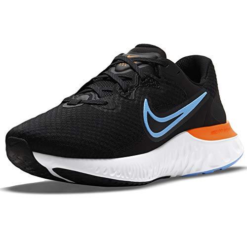 Nike Renew Run 2, Running Uomo, Black Coast Dk Smoke Grey Total Ora, 40.5 EU