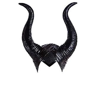 Maleficent Headpiece Longhorn Deluxe Halloween Cosplay Costume Horns