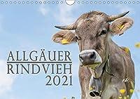 Allgaeuer Rindvieh 2021 (Wandkalender 2021 DIN A4 quer): Ein Kalender fuer alle Allgaeu- und Kuhliebhaber. (Monatskalender, 14 Seiten )