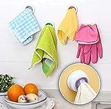 LXX Praktische Küche Aufbewahrungshaken Waschen Kleiderbügel Rack Handtuchhalter Saugnapf Wand Fenster Bad Tool Zufällige Farbe