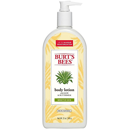 Burts Bees Soothingly Sensitive Aloe & Buttermilk Body Lotion, 12 oz (Pack of 2)