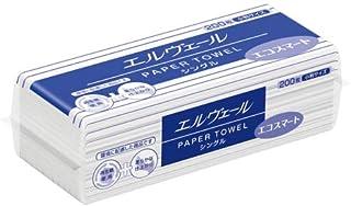 (まとめ買い)大王製紙 エルヴェール ペーパータオル エコスマート シングル 小判タイプ 200枚 350297 【×10】