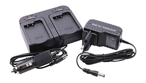 vhbw Cargador Dual Compatible con Canon LP-E8 batería de cámara - Soporte