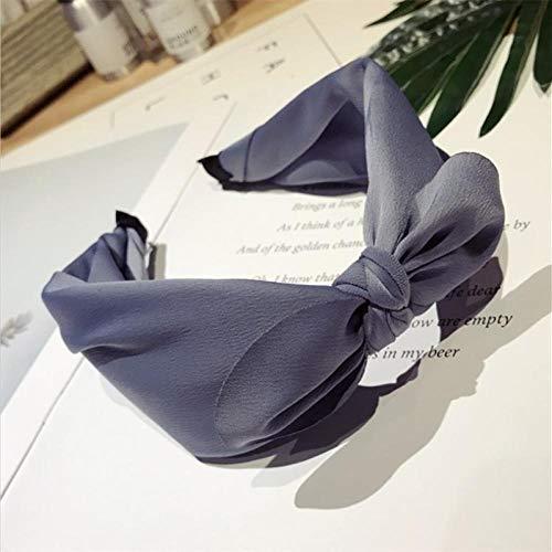 Tocado de Boutique para Mujer Simple Color sólido bobinado Medio Anudado Orejas...