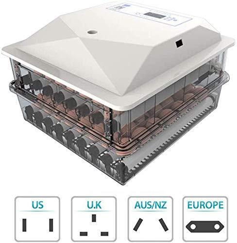 CARLAMPCR Vollautomatische Eier Inkubator - Brutmaschine mit LED Beleuchtung,Brutkasten für Huhn, Ente, Gans, Taube, Wachtel 9 Eier Brutapparat
