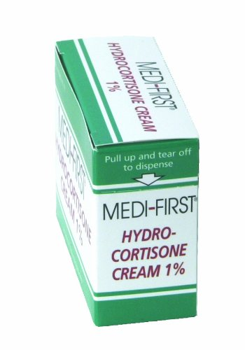 Hydrocortisone Anti-Itch Cream Packets for First Aid & Emergency Kits, 25 Pack