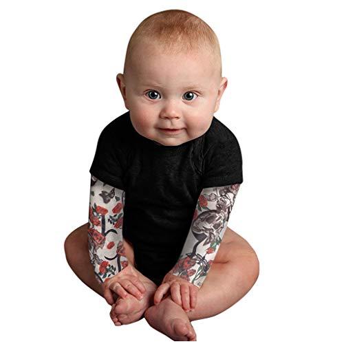 H.eternal(TM) Bebé recién nacido bebé niño tatuaje impreso manga larga patchwork mameluco camiseta casual ropa interior leggings trajes regalo para niños