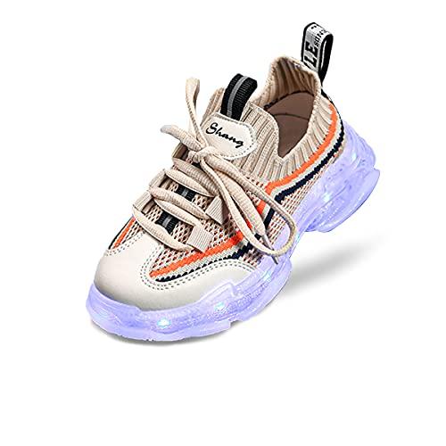 Niños Niños Niñas Zapatos con luz LED Niños Zapatos LED Unisex Carga USB Zapatillas de Deporte al Aire Libre Niños Niñas